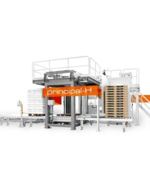 Automatic palletizer machine for bags and boxes