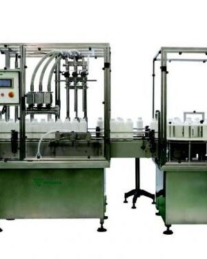 Linear automatic bottling machine for liquids