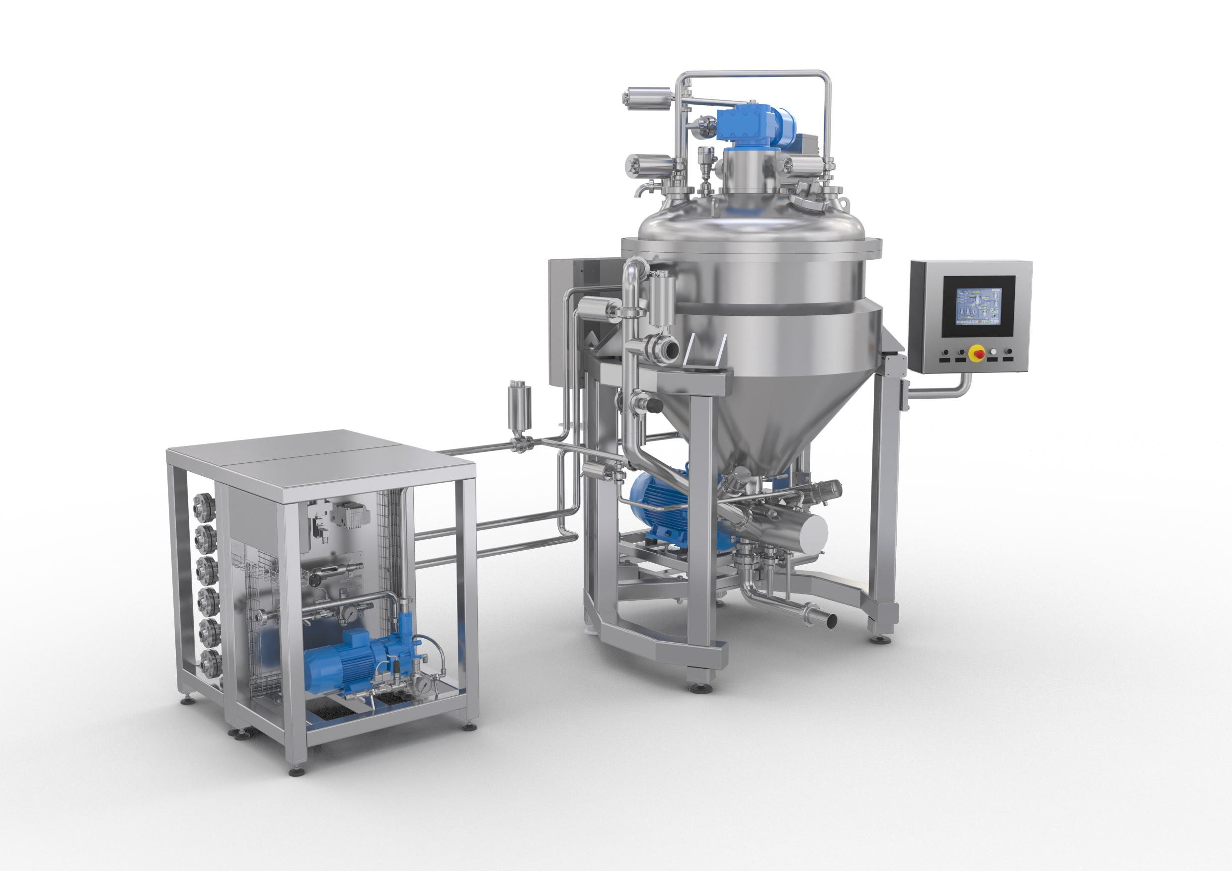 Batch vacuum mixer for ointment