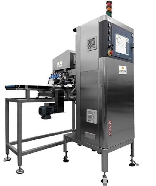 Inspection machine for MAP packaged food in bags and trays