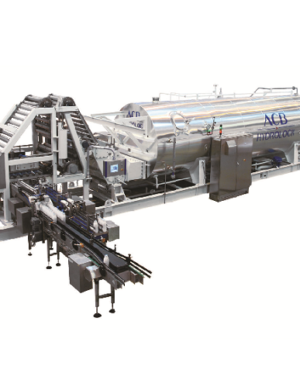 Continuous sterilizer for milk beverages