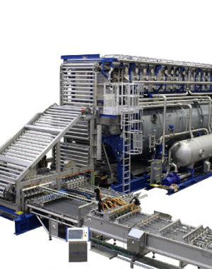 Continuous sterilizer for canned vegetables